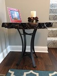 22 INCH TALL STEEL END TABLE BASE! Golden Gate Pedestal Base! Flat Black Metal Table Base! Accent Table Legs! S-177