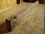 "74"" X 7.25"" X 4.25"" LATE 1800s RECLAIMED HAND HEWN MANTEL BEAM LUMBER! FIGURED POPLAR BEAM! HEAVY DUTY FIREPLACE BEAM MANTEL LUMBER! U-111"