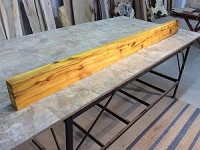 "80"" X 6"" TO 5"" X 2.5"" THICK OSAGE ORANGE LUMBER! FIGURED OSAGE ORANGE! OSAGE LUMBER! MANTEL OSAGE! U-131"