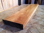 "74.5"" X 15.75"" TO 15"" X 3"" OAK MANTEL BEAM LUMBER! FIGURED OAK BEAM! HEAVY DUTY FIREPLACE BEAM MANTEL LUMBER! BEAM V-114"