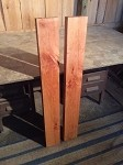 "47.25"" X 5  7/8"" X 2  1/8"" ""2 PACK FIGURED CHERRY SHELF LUMBER"" TABLE LEGS! FIGURED CHERRY LUMBER! 2 THICK BOARDS! V-124"