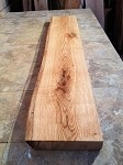 "62"" X 11"" TO 10.5"" X 2  1/8"" PRIMITIVE RED OAK SHELF/MANTEL LUMBER! FIGURED OAK! FIGURED BEAUTIFUL LIVE EDGE LUMBER! W-113"