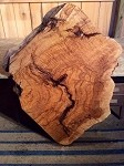 "53"" X 37"" X 2.5"" ""MASSIVE WHITE OAK CLOVER DIAMOND BURL"" FIGURED BURLY OAK LUMBER! LIVE EDGE WOOD! 1 SUPER RARE LARGE LIVE EDGE BURL SLAB! Z-123"
