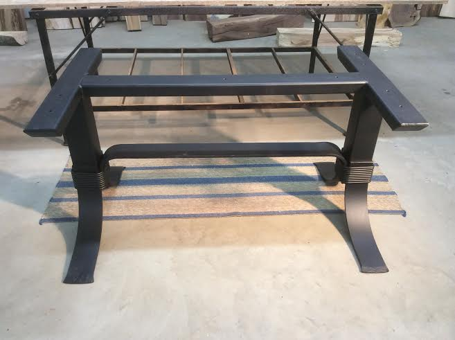 Steel Dining Table Base Ohiowoodlands Metal Legs Powder Coated For
