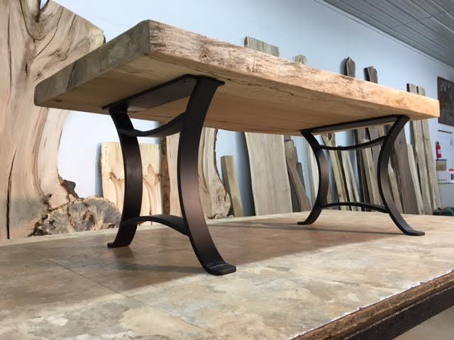 16 Inch Tall Steel Coffee Table Base Set Flat Black Golden Gate Metal