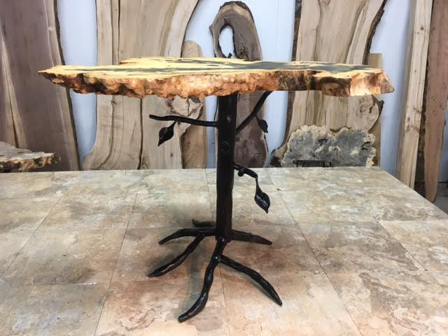 21 Inch Tall Custom Tree Hand Made Accent End Table Base