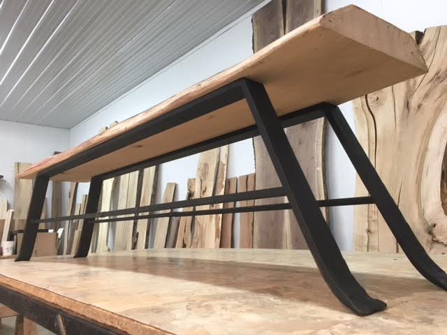 Excellent Hand Forged Steel Bench Table Legs Bench Table Base Andrewgaddart Wooden Chair Designs For Living Room Andrewgaddartcom