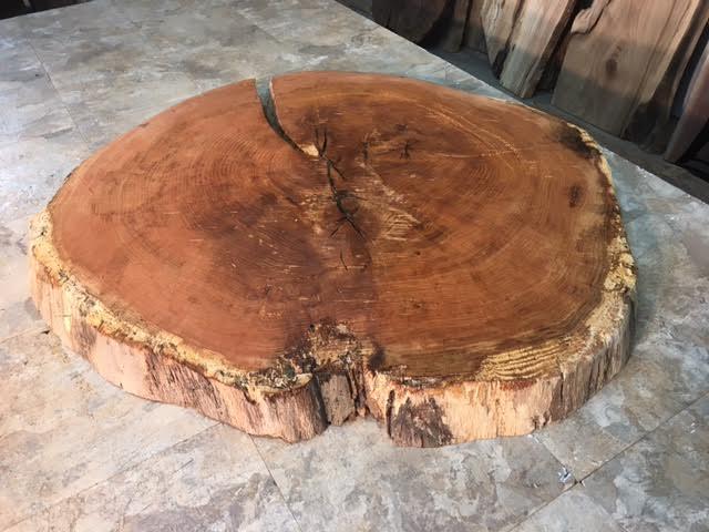 39 X 38 2 25 Round Figured Red Oak Slab
