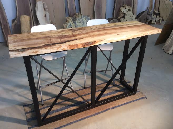 Ohiowoodlands Bar Table Base. Solid Steel Bar Table Legs. Bar Table Base. Bar  Table Top. Metal Bar Table Legs. Solid Steel Base Live Edge.