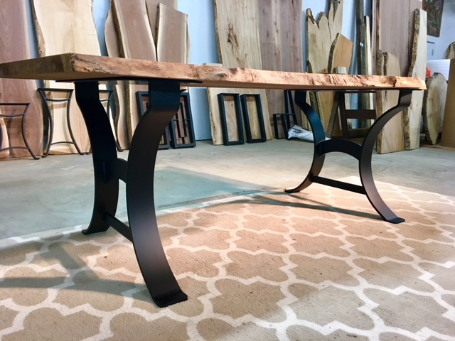 OhioWoodlands Dining Table Base. Steel kitchen table legs.