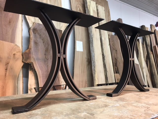 metal dining table legs OhioWoodlands Dining Table Base. Steel dining table legs. Dining  metal dining table legs