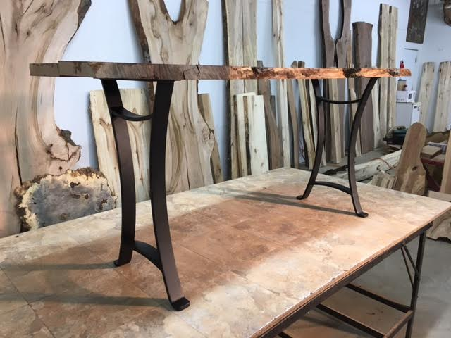 28 Inch Tall Steel Sofa Table Base Set Flat Black Golden Gate Metal