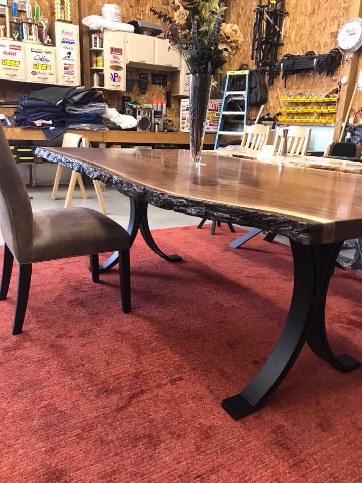 Ohiowoodlands Dining Table Base Steel Legs Metal Ohio Woodlands Wood