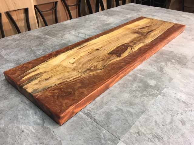 Terrific Live Edge Maple Sofa Table Copper Eco Poxy Maple Live Edge Salvaged Maple For Sale At Ohio Woodlands Finished Eco Poxy Maple Ibusinesslaw Wood Chair Design Ideas Ibusinesslaworg