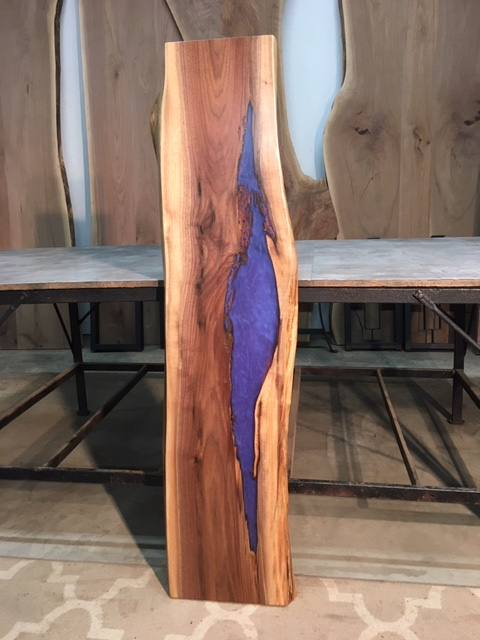 Fantastic Live Edge Walnut Sofa Table Epoxy Live Edge Walnut Live Edge Epoxy Walnut For Sale At Ohio Woodlands Finished Epoxy Resin Walnut Theyellowbook Wood Chair Design Ideas Theyellowbookinfo