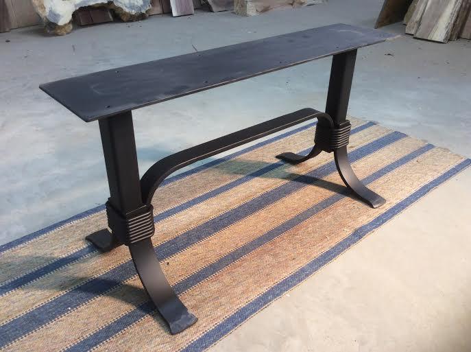 Flat Black Metal Table Base Coffee