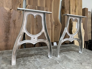 34 INCH TALL CAST ALUMINUM PUB TABLE BASE SET! Part #N-221