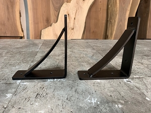 7 INCH X 6 INCH LONG ARCHED STEEL SHELF BRACKETS! Part #E-225