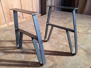 15.5 INCH TALL STEEL BENCH/COFFEE TABLE LEG SET! Part #V-147