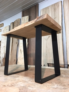 22 INCH TALL STEEL TRAPEZOID END TABLE BASE SET! Part #D-185