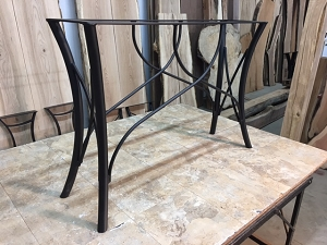 28 INCH TALL STEEL SOFA/CONSOLE TABLE BASE! Part #S-150