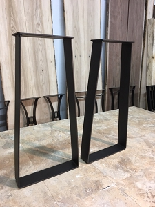 28 INCH TALL STEEL TRAPEZOID SOFA TABLE BASE SET! Part #E-185