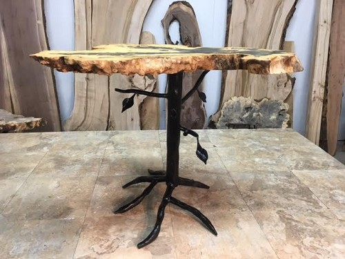 21 INCH TALL CUSTOM TREE END/ACCENT TABLE BASE! Part #C-163