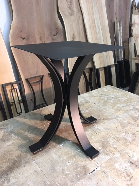 28 Inch Tall Steel Eclipse Pedestal Dining Base Part J 202