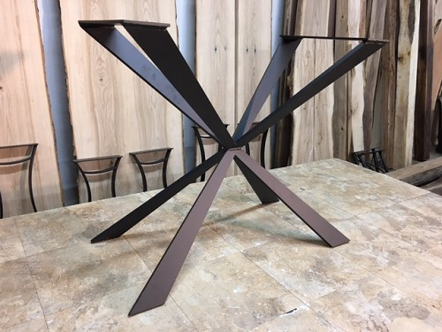 28 INCH TALL STEEL 'TAPERED X-WING' SOFA TABLE BASE! Part #C-190