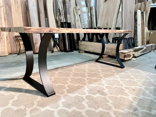 28 INCH TALL STEEL 'HOURGLASS' DINING TABLE BASE SET! Part #O-213