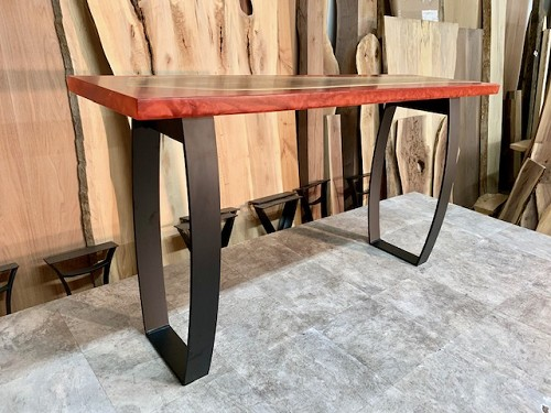 28 INCH TALL STEEL 'REVERSE HOUR GLASS' SOFA TABLE BASE SET! Part #L-211